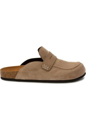 J.W.Anderson Sandals - Suede loafer mules - CAPPUCCINO