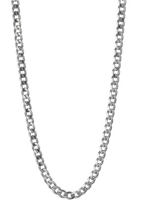 The Love Silver Collection Sterling 1/2 Oz Solid Diamond Cut Curb Chain