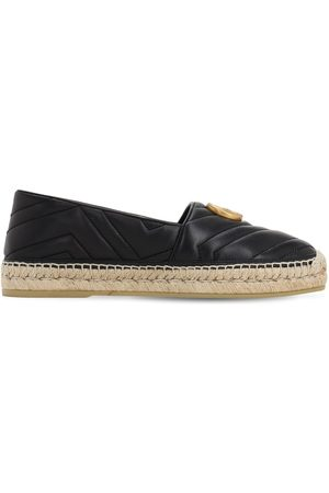 Gucci 10mm Quilted Leather Espadrilles