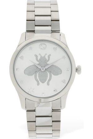 Gucci 38mm G Timeless Bee Motif Watch