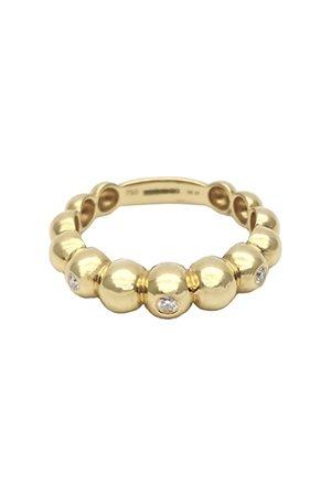 ROSA DE LA CRUZ 3 Diamond Boules Ring
