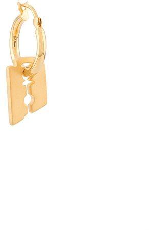 NORTHSKULL Men Earrings - Razor Blade single hoop earring