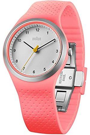 Braun Brown Women's Watch Sports Silicone Quartz Watch with Black Dial Analogue Display BN0111 Whpkl