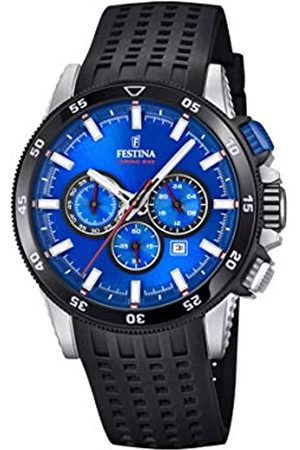 Festina Mens Chronograph Quartz Watch with Silicone Strap F20353/2