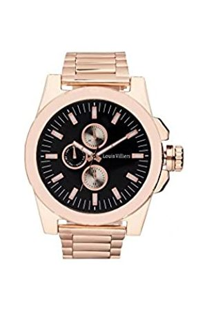 Louis Villiers Unisex Adult Analogue Quartz Watch with Stainless Steel Strap LVAG3733-7