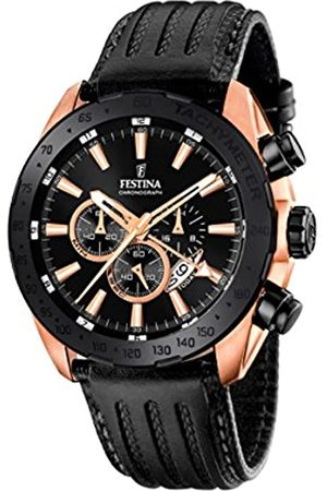 Festina Men's Quartz Watch with Dial Chronograph Display and Leather Strap F16900/1