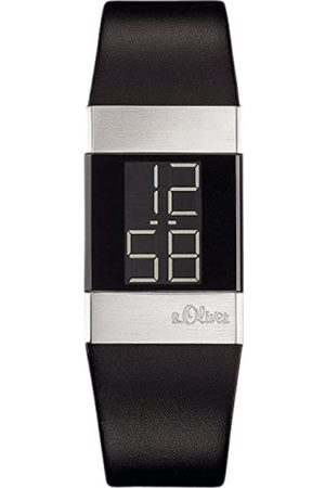 s.Oliver Women's Digital Quartz Watch with Leather Strap - SO-1125-LD