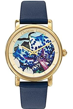 Christian Lacroix Womens Analogue Quartz Watch with Leather Strap CLWE45