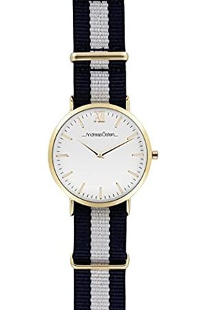 Andreas Osten Unisex-Adult Analogue Classic Quartz Watch with Nylon Strap AO-57