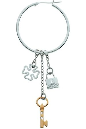 Miss Sixty Earrings With 3 Stainless Steel And Swarovski Crystals Charms.