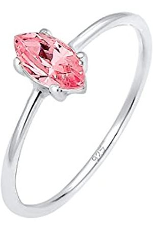 Elli Women's 925 Sterling Silver Solitaire Ring R 1/2 0602842118_58