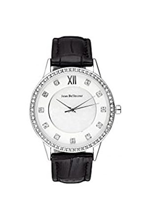 Jean Bellecour Unisex-Adult Analogue Classic Quartz Watch with Leather Strap REDK2
