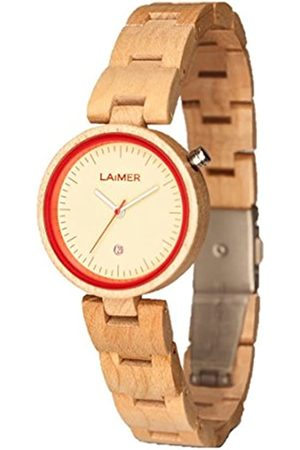 Laimer Wood watch NICKY ROT– women's wristwatch made of 100% Maple wood - nature and lifestyle