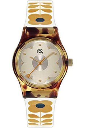 Orla Kiely Women's Analogue Analog Quartz Watch with Plastic Strap OK2330