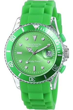 Madison Men's Analogue Classic Quartz Watch with Rubber Strap U4399-10