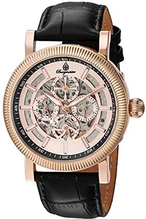 Burgmeister Men's Automatic Watch with Rose Gold Dial Analogue Display and Leather Bracelet BM221-362