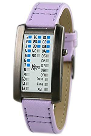 XTRESS Men's Binary Quartz Watch with Leather Strap XDA1030P