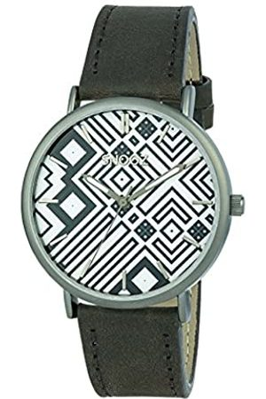 Snooz Men's Analogue Quartz Watch with Leather Strap Saa1041-76
