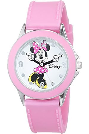 Disney Girls Analogue Classic Quartz Watch with Rubber Strap MN1442