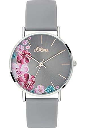 s.Oliver Womens Analogue Quartz Watch with Silicone Strap SO-3707-PQ