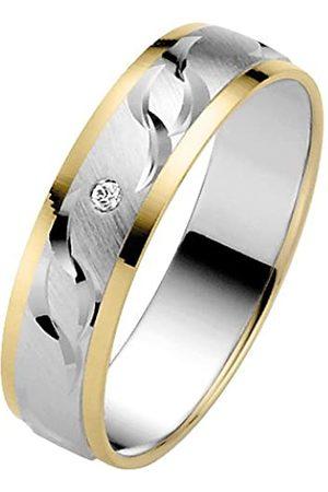 Trauringe Liebe hoch zwei 585 14ct 2 Colour Diamond