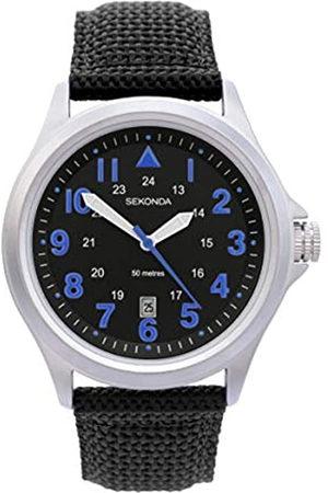 Sekonda Mens Analogue Classic Quartz Watch with Nylon Strap 1714