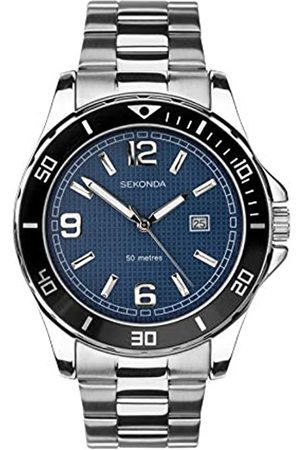 Sekonda Mens Analogue Classic Quartz Watch with Stainless Steel Strap 1512.27