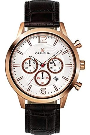ORPHELIA Mens Chronograph Quartz Watch with Leather Strap OR81804