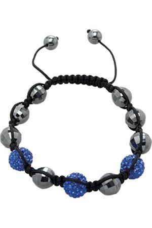 Carlo Monti Women's Shamballa Bracelet with Dark Length Adjustable