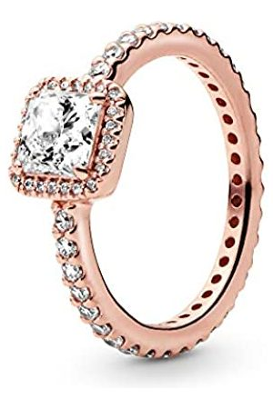 PANDORA Women's Ring 925 with timeless elegance - 190947CZ Zirconia White L- L 1/2