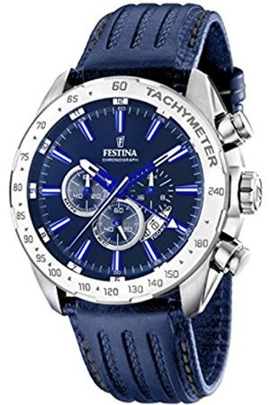 Festina Men's Analogue Quartz Watch with Leather Strap F16489/B