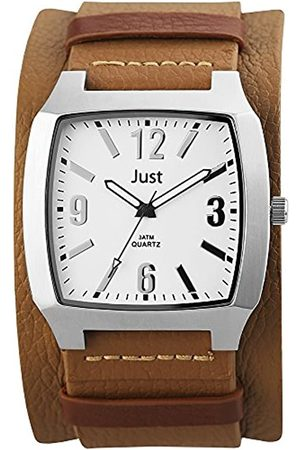 Just Watches Men's Quartz Watch 48-S10451-WH with Leather Strap