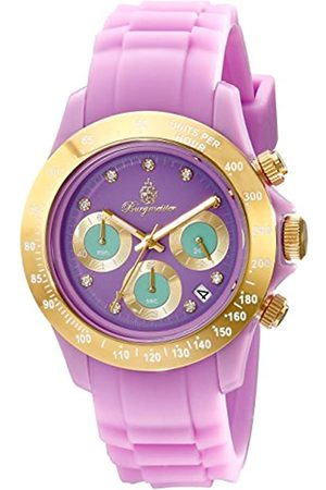 Burgmeister BM514-990A Florida, Ladies watch, Analogue display, Chronograph with Seiko Movement - Water resistant, Sporty and trendy silicone strap