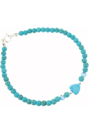 Earth Skinny Heart Bracelet in Turquoise of Length 20cm