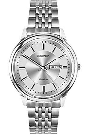 Sekonda Mens Analogue Classic Quartz Watch with Stainless Steel Strap 1732