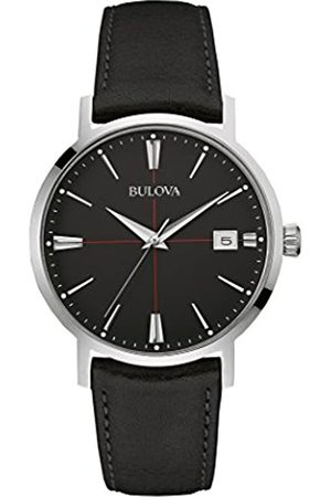 BULOVA Men's Designer Watch Leather Strap - Classic Aerojet Wrist Watch 96B243