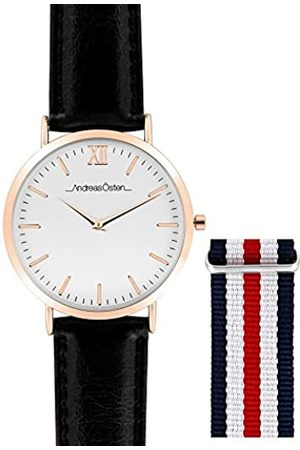 Andreas Osten Unisex-Adult Analogue Classic Quartz Watch with Leather Strap AO-102