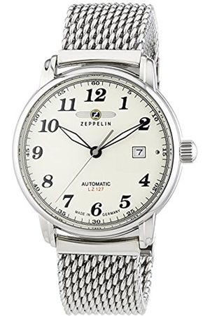 Zeppelin Men's Wristwatch XL LZ127 Graf Automatic Analog Stainless 7656M5