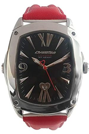 Chronotech Mens Analogue Quartz Watch with Leather Strap CT7696M-14