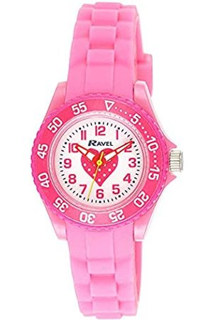 Ravel Girls Analogue Pink Heart Quartz Watch with Silicone Strap R1807.05