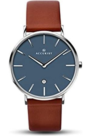 Accurist Men's Analogue Quartz Watch with Leather Strap 7145.01