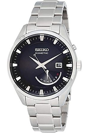 Seiko Mens Analogue Kinetic Watch with Stainless Steel Strap SRN045P1