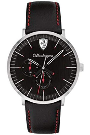 Scuderia Ferrari Mens Multi dial Quartz Watch with Leather Strap 0830565