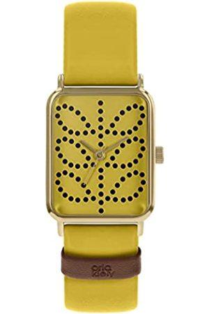 Orla Kiely Women Watches - Womens Analogue Classic Quartz Watch with Leather Strap OK2304