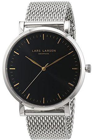 Lars Larsen Men's Quartz Watch with Dial Analogue Display and Stainless Steel Bracelet 143SBSM