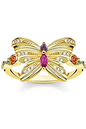Thomas Sabo Women 925 Silver Silver Bullet Glass Ring - TR2285-488-7-54