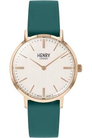 Henry Unisex Adult Analogue Classic Quartz Watch with Leather Strap HL34-S-0408