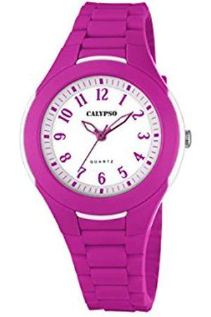 Calypso Girls Analogue Classic Quartz Watch with Plastic Strap K5700/4