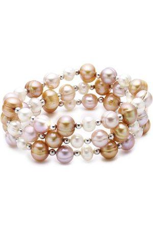 Sakura Pearl AM 194 High Lustre 8.0-8.5 mm Baroque Freshwater Pearl 19.0 centimetres Silver-Plated Metal Bracelet