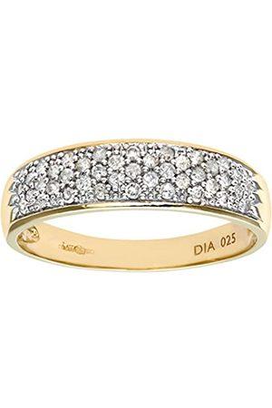 Naava Women's 0.25 ct Diamond 9 ct Yellow Pave Ring